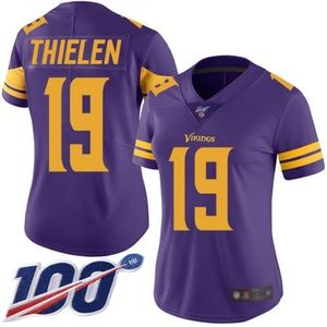 Women Vikings Adam Thielen 100th Season Jersey